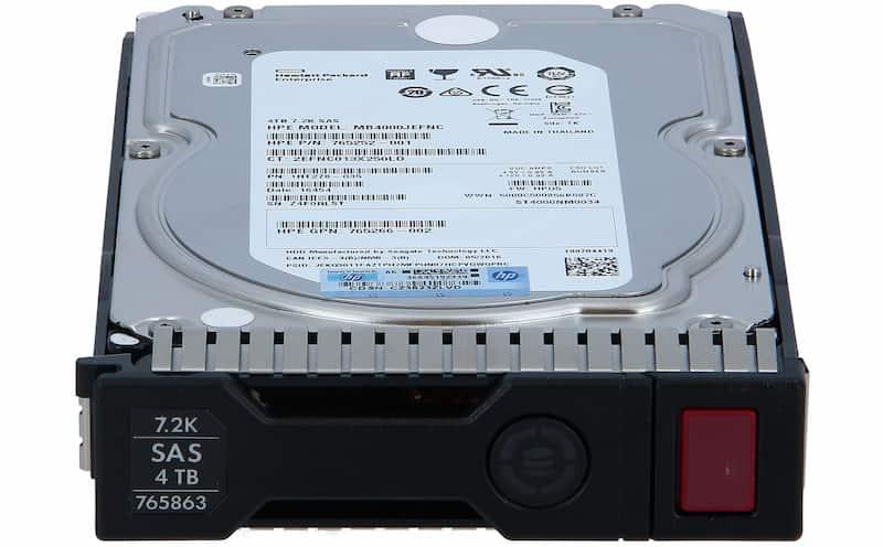 هارد سرور HP 4TB SAS 7.2K 12G LFF
